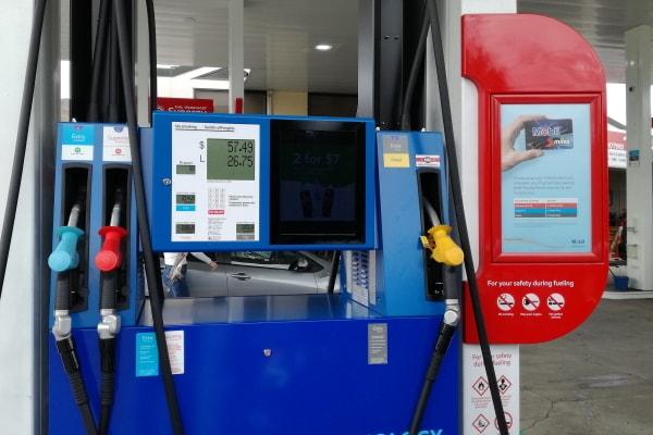 ニュージーランド_ガソリンスタンド1