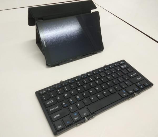 海老名市_折りたたみ式ワイヤレスキーボード