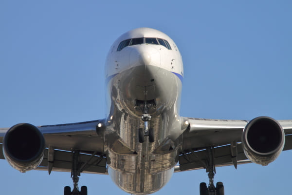 千里川土手の飛行機